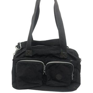 Kipling Black Nylon Medium Crossbody Bag